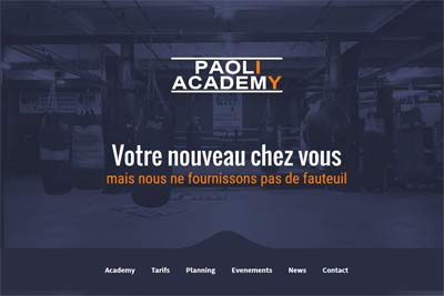 Paoli Academy - Coaching sportif - Wordpress